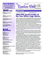 2003 March Newsletter Epsilon (University of North Carolina)