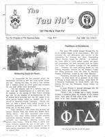 1986 Fall Newsletter Tau Nu (Rensselaer Polytechnic Institute)