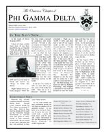 2007 Spring Newsletter Omicron (University of Virginia)