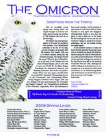 2009 Spring Newsletter Omicron (University of Virginia)