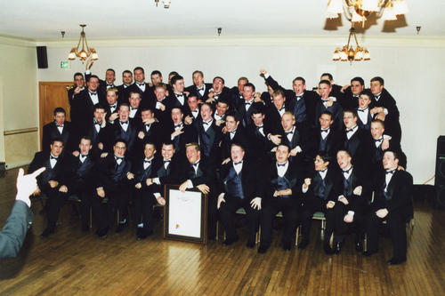 Beta Sigma at Ball State Chartering University on February 24th, 2001. Undergraduates with Charter.
