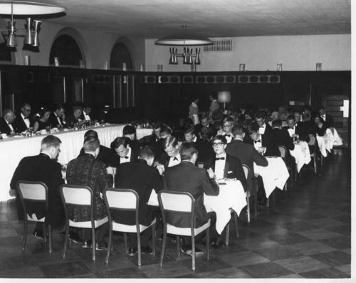 University of New Mexico chartered on October 23, 1966.  Picture is labeled that it was received at the International Fraternity on January 23, 1967.