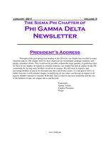 2011 January Newsletter Sigma Phi (Florida International University)