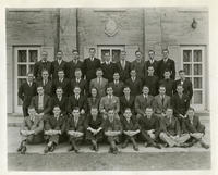 1936 Nebraska Group Picture in front of Chapter House