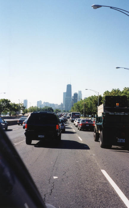"Cross country USA trip.  From back of photo ""Ah! Chicago morning rush hour. Gotta love it."" - Scott Lechky (University of Alberta 1999)"