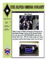 2013 Fall Newsletter Alpha Omega (Ohio University)