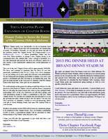 2013 Fall Newsletter Theta (University of Alabama)