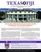 2014 Fall Newsletter Tau Deuteron (University of Texas)