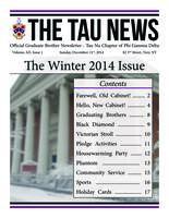 2014 Winter Newsletter Tau Nu (RPI)
