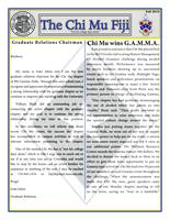 2015 Fall Newsletter Chi Mu (University of Missouri)