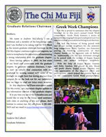 2015 Spring Newsletter Chi Mu (University of Missouri)