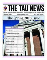 2015 Spring Newsletter Tau Nu (RPI)