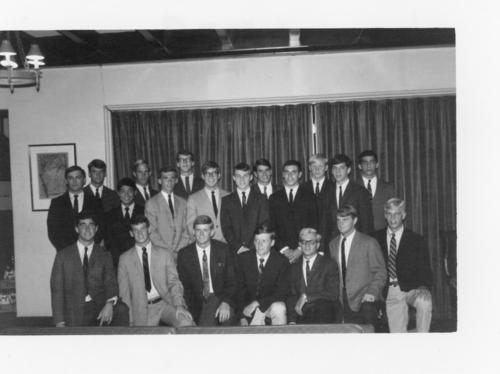 Pledge class in fall of 1967.  Class of 1971.