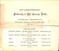 1874 Convention Program