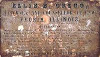 Ellis B. Gregg (Jefferson College 1848) Business Card