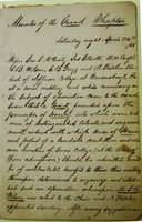 1848 (April 22) - Minutes of the First Meeting of the Immortal Six
