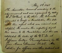 1848 (May 1) - Minutes of the First Meeting of Phi Gamma Delta