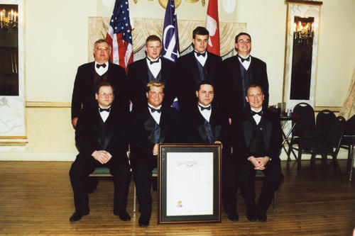 Beta Sigma at Ball State University Chartering on February 24th, 2001.