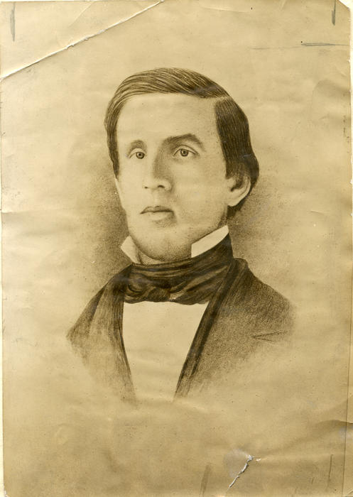 "Daniel Webster Crofts (Jefferson College 1848), founder of Phi Gamma Delta , Daniel Webster Crofts (1828-1852)  	 ""Dan'l"" Crofts, one of ten children, was born on a frontier farm in Columbiana County, Ohio, on December 3, 1828. He was tall and slender, with excellent features and an intelligent face but pale of complexion, appearing to be ill as indeed he was much of the time. Realizing that Dan was not equipped for the rigors of farm life, his family decided that he should be given a higher education. He was subsequently sent to ""Mr. Holmes' private school"" in New Lisbon, Ohio, and then to an academy at West Point, Ohio, where he became sufficiently prepared to enter Jefferson College, in 1844, before his sixteenth birthday. There he was a good student, kindly to those he liked and a bitter hater of those he disliked. For some reason unknown to us, he was involved in a disagreement with certain members of the faculty and vowed he would not accept a diploma from Jefferson, though the college catalogue and commencement program list him as a graduate of 1848.  Like some of the other founders, Crofts' first endeavor upon leaving college was at teaching school. His private academy enterprise did not prosper, however, and he soon turned to the study of law, being admitted to the bar in Steubenville, Ohio, in 1850. He was appointed notary public for Columbiana County even before completing his study of Blackstone.  Poor Crofts seems to have lived in perpetual torment under the shadow of tuberculosis, which caused his early death on January 8, 1852 at Clinton, Louisiana, where he had gone in search of recuperation. He once wrote to Fletcher: ""Oh, life, thou art a galling load, a long, a rough, a weary road to wretches such as I."" All of his resources were used up in his fight against death and when he died alone and far from home among the Louisiana bayous, his personal effects, including his Phi Gamma Delta badge, were sold to cover his medical and funeral expenses. His grave was for many years lost to us, but we know now that he rests in the cemetery at Clinton, Louisiana, and the spot has been marked by a fitting memorial erected by the Fraternity. The life of Daniel Webster Crofts was a springtime full of promise and preparation, a summer of happiness and hope, an autumn of sorrow and sadness, and a winter of despair and death. The golden cord which bound the Founders was too soon broken by his tragic death at the age of twenty-three years.  Crofts' Gravesite  Crofts headed south in 1851 to seek relief from his advanced tuberculosis, and probably picked Clinton because of its reputation as a legal center. He died in January, 1852 in a hotel there in Clinton; he was buried in part of the hotel owner's cemetery plot. Burial expenses were defrayed by public sale of his meager belongings, including his gold fraternity badge. The grave was marked only by a few bricks until the Fraternity placed a stone there shortly after 1900.  Directions  The small town of Clinton is at the intersection of Route 10 and Route 67, about 100 miles northwest of New Orleans, or about 30 miles north of Baton Rouge. Traveling west on Highway 10 (St. Helena Street), the 1840 courthouse is on your right. Stop by the clerk's office for a postcard and town map; you can also get copies at the sheriff's office just a couple of blocks south of the courthouse. Note the famous ""lawyers' row"" along the north side of the courthouse. At the square, turn left onto Bank Street. Just past the historic Marston House, turn right onto Marston Street. Clinton Confederate Cemetery is ahead to the left.  The History of Phi Gamma Delta, Tomos Alpha contains an adequate map of the small cemetery and explains the story of how the grave was originally located. Also detailed is the poignant tale of Croft's demise and burial; reading this before (and during) your visit adds immensely to your experience."