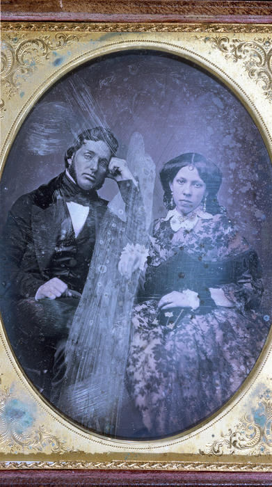 "John Templeton McCarty (Jefferson College 1848) and his wife, Mary, John Templeton McCarty (1828-1860)  	 ""Mac"" or ""Johnty,"" as he was called by his brothers, was born in Brookville, Indiana, to Scotch-Irish parents on August 28, 1828. His father was wealthy, making his money from merchandising, large-scale farming, pork packing, selling real estate and operating stage-coach and canal-boat lines. In addition, he was a prominent Mason and member of the state legislature. John's mother was a cousin of statesman John C. Calhoun.  McCarty was educated in the public schools, studied Greek and Latin under a local clergyman and at seventeen went to Oxford, Ohio to enter Miami University. There he remained for two years, pursuing only a ""partial course,"" before matriculating to Jefferson College in 1846. At Jefferson, he soon determined to establish a new organization, whose emblem is now so proudly borne by so many.  McCarty the student is described as a young man of unusually fine physique, open-hearted, generous, genial, sociable, and very popular. He was a clear thinker, a vigorous writer, a forcible speaker with a ready wit; his frank Western manner and joyous laughter made him loved by all. At the same time, he was a born adventurer and fighter, as his later life disclosed.  Immediately after his graduation, he returned to Brookville to take up the study and practice of law. Being, however, of a high-spirited and adventurous nature, he soon organized a company with himself as captain and set out in the spring of 1849 across the plains with the ""Forty-niners"" to search for gold in California. The diary which ""Mac"" kept of this perilous journey is historically valuable and extremely interesting for its descriptions of the country through which the wagon caravan trekked and for its accounts of buffalo hunts, of Indian troubles, of cholera epidemics, of hunger, thirst, privation, and death. By virtue of both vested authority and natural ability, ""Mac"" was the leader of that expedition across the continent. It was he who blazed the most difficult trails, first swam the rivers, killed the first game and dug the first gold. It was he, too, who had all the dealings with the native Americans, in one instance overpowering a hostile Indian in hand-to-hand combat.  To us, the most amazing and inspiring incident of the entire journey was a chance meeting between McCarty and another member of Phi Gamma Delta, Bolivar G. Krepps (Washington '49), each independently seeking his Eldorado in the gold rush, on the banks of the Sweetwater River on the evening of June 7th, 1849. Neither had ever seen the other before, yet they met in the midst of the trackless west at a time when the entire roll of the ""Delta Association"" numbered not more than twenty-five. McCarty's diary tells of the splendid feast with which they celebrated and of the many hours of fellowship and conversation which followed. Before parting, they stood beside that limpid stream and, with uncovered heads, 'neath the brilliant stars, drank a solemn toast to the prosperity of the ""Delta Association"" and to all brothers who should live after them.  Upon arrival at the gold fields, the adventurous group of ""Forty-niners"" fared none too well and the company shortly disbanded. McCarty we nt to San Jose, the seat of the first California government, where he became clerk of the first legislature. In February, 1850, he moved to Marysville, California, to practice law, and was twice elected county recorder and criminal court judge. In 1853, he met Mary E. Pierson, becoming so interested in her that when she went East to school the next year he followed her. While crossing the Isthmus of Panama on the way to New York, he contracted the ""Panama Fever"" which undermined his health and led to his death six years later. Nevertheless, he and Mary were married in 1854 and after an extensive Eastern honeymoon, returned via Brookville and New Orleans to McCarty's new house in Marysville. Their one daughter was born, whose presence was the highlight of the Portland Ekklesia of 1938.  Up to 1860, John T. had been a man of considerable wealth, but through the misfortune of a man whose bond he had signed, he then found himself suddenly in difficulties. On the advice of friends he resolved to recoup his fortunes in the Nevada mines and sold all of his property preparatory to moving. Just before his scheduled departure, he was stricken ill. He died February 4, 1860. He was buried in the cemetery at Marysville, where his resting place was marked by the Fraternity with a handsome stone fittingly inscribed: "". . . erected to his memory by the College Fraternity of Phi Gamma Delta of which he was a founder and the influence of which, magnified beyond his fondest hopes, lives to ennoble his memory."" In 1932 his remains and the stone were removed by the Fraternity to the Sierra View Memorial Park in the same city.  McCarty's Gravesite  McCarty died on February 4, 1860, and was buried in the pioneer cemetery in Marysville. The grave was unmarked until William F. Chamberlin (Denison 1893) arranged for a stone to be placed here.  In 1932 the Fraternity moved McCarty's remains to another nearby cemetery. Hence, the directions provided in The History of Phi Gamma Delta, Tomos Alpha are incorrect.  Directions  Drive north from Sacramento on State Route 70 for around forty miles until you are five miles south of Marysville. As the highway becomes four-lane, you will see a McGowan parkway off-ramp. Take that exit and turn east at the stop sign; proceed to Olive Avenue, turn left, and continue north, which will bring you to the gates of Sierra View Memorial Park. McCarty's gravesite is located at the extreme back part of the cemetery on the left side of the mausoleum towards the equipment garage, under a large tree. It is on Lot C, Section 40, Block 6."