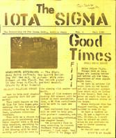 1982 Fall Newsletter Iota Sigma (Indiana State University)