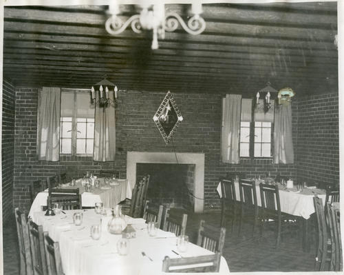 May 1937 - dining room of the chapter house of University of Nebraska.