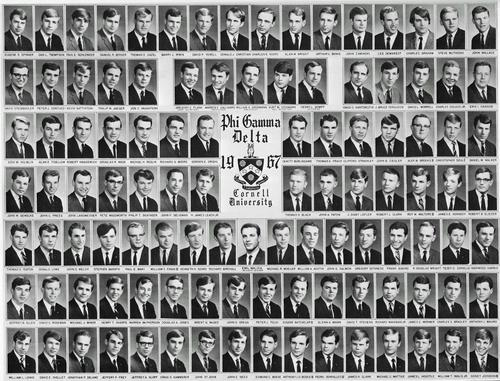 1967 Composite for the Kappa Nu chapter at Cornell University.