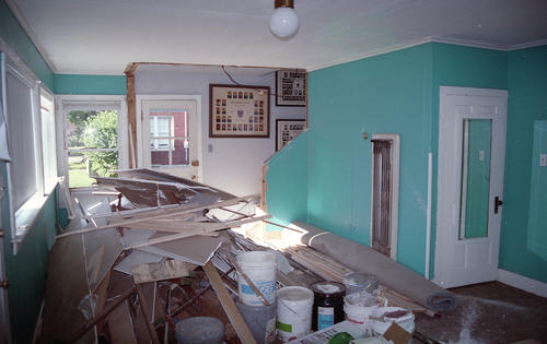 Renovations to the Upsilon Kappa chapter house at the University of Kentucky in 1993.