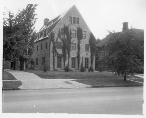 University of Nebraska's Chapter house prior to 1964. Progression of vines on exterior will give a clue as to the age of the image.