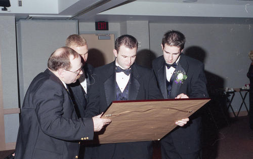 Chartering of the Epsilon Iota Chapter on April 15, 2000.  Legate was John H. Schroeder, Jr. (Wabash 1942).