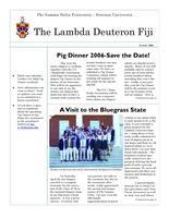 2006 Summer Newsletter Lambda Deuteron (Denison University)
