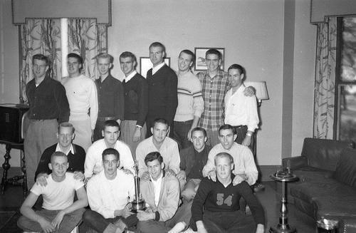1951 Fall Pledge Class of the Theta Deuteron Chapter at Ohio Wesleyan University