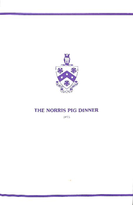 March 23, 2002 Pig Dinner Program for Theta Deuteron at Ohio Wesleyan University.  The document is five pages in length.