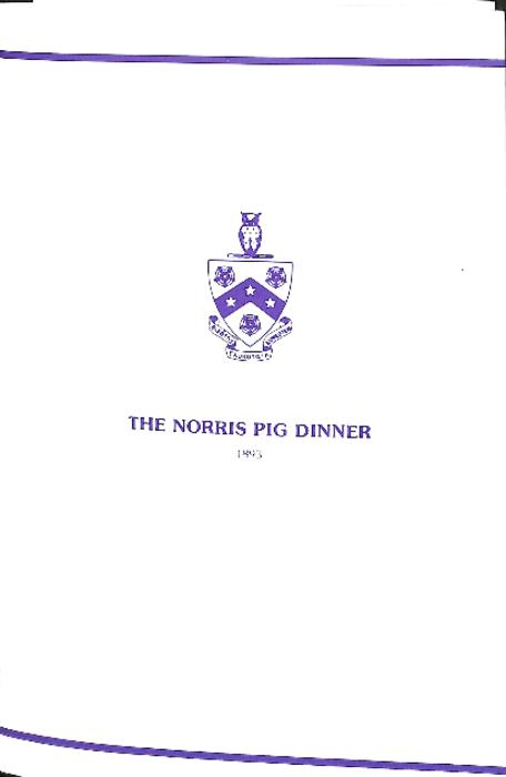 2001 Pig Dinner Program for Theta Deuteron at Ohio Wesleyan University.  The program is six pages in length.