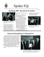 2009 August Newsletter Rho Chi (University of Richmond)