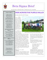 2009 Spring Newsletter Beta Sigma (Ball State University)