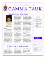 2009 Summer Newsletter Gamma Tau (Georgia Institute of Technology)
