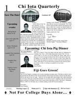 2010 Spring Newsletter Chi Iota (University of Illinois)
