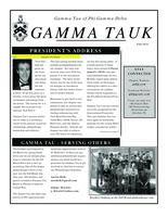 2011 Fall Newsletter Gamma Tau (Georgia Institute of Technology)