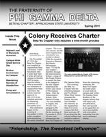 2011 Spring Newsletter Beta Nu (Appalachian State University)