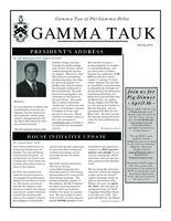 2011 Spring Newsletter Gamma Tau (Georgia Institute of Technology)