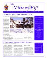2011 Winter Newsletter Gamma Phi (Pennsylvania State University) circa December...