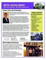 2013 Fall Newsletter Beta Sigma (Ball State University)