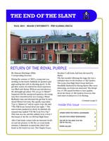 2015 Fall Newsletter Mu Upsilon (Miami University)