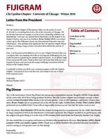 2016 Winter Newsletter Chi Upsilon (University of Chicago)