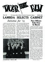 1962 Spring Newsletter Lambda (DePauw University)
