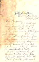 1880 May 2 - Correspondance from Zeta chapter to Tau chapter