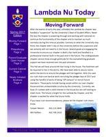 2017 Spring Newsletter Lambda Nu (University of Nebraska)