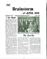 1957 Fall Newsletter Alpha Iota (Iowa State University)