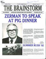 1982 Fall Newsletter Alpha Iota (Iowa State University)